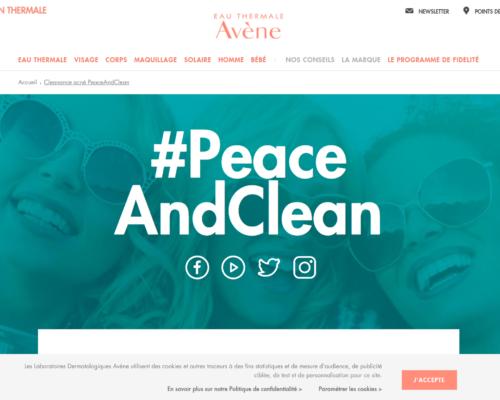 Cleanance acné PeaceAndClean Eau Thermale Avène
